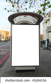 Bus stop close to Hyde Park Corner Station in central London, United Kingdom. This is for advertisers to place ad copy samples on a bus shelter.