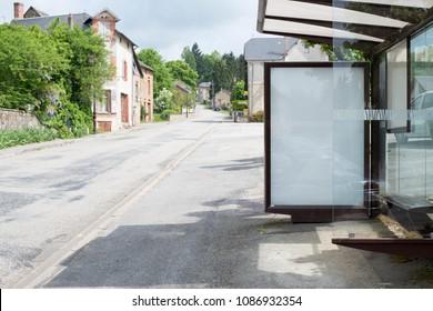 bus stop mockup