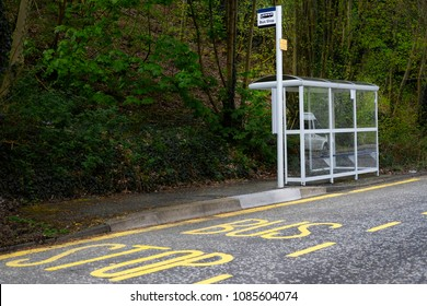 bus stop shelter rural countryside uk public transport free travel pensioner senior person commute