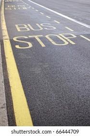 Bus stop sign, London, UK