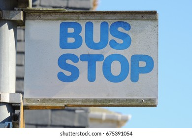 BUS STOP - a sign in Looe, Cornwall