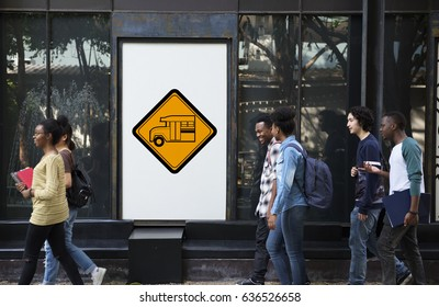 Bus Stop Sign Vehicle Symbol