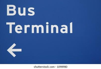 Bus Terminal Sign