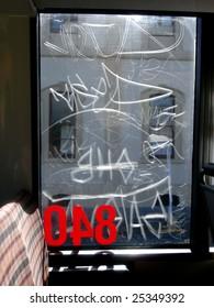 Bus Window Graffiti