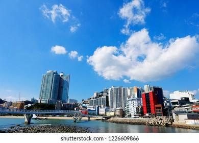 Busan Songdo Skywalk, the longest skywalk on the water in South Korea.