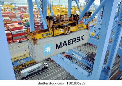Maersk Commercial Ship Images, Stock Photos & Vectors