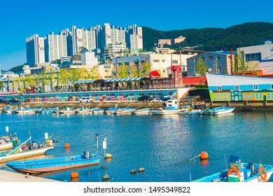 BUSAN, SOUTH KOREA - AUGUST 17, 2019: Venice of Korea at Jangrim port old fishing port of Busan, Korea