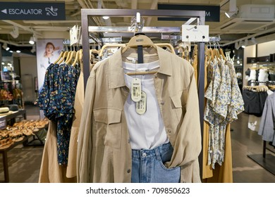 BUSAN, SOUTH KOREA - CIRCA MAY, 2017: inside a MIXXO store in Busan.