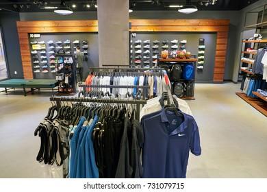 BUSAN, SOUTH KOREA - CIRCA MAY, 2017: inside Nike store at Lotte Department Store.
