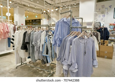 BUSAN, SOUTH KOREA - MAY 25, 2017: inside a store at Lotte Mall in Busan.