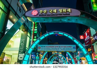 BUSAN , SOUTH KOREA - OCT 09 : Busan International Film Festival(BIFF) Square in Busan, South Korea on October 09 2018