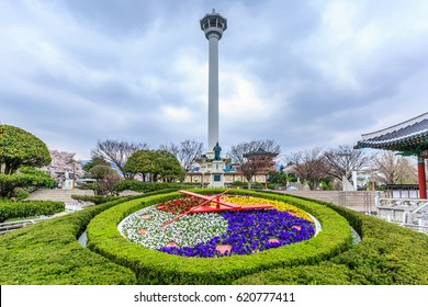 Busan Tower, Yongdusan Park, Busan, South Korea.