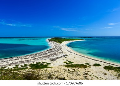 Bush Key in the Dry Tortugas National Park as seen from Fort Jefferson.