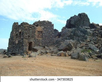 Bushiribana gold smelter ruins, north coast, Aruba, Caribbean