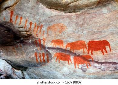 Bushman cave paintings in Cederberg, Republic of South Africa