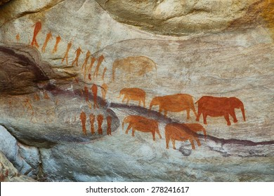 Bushman cave paintings in Cederberg, South Africa