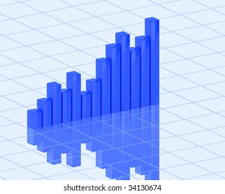 Business 3d abstract finance diagram