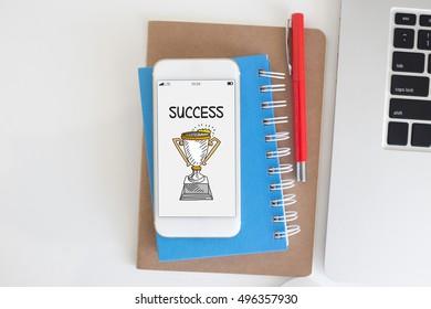 BUSINESS ACHIEVEMENT SUCCESS CONCEPT