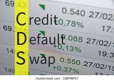 Business Acronym CDS as Credit default swap.