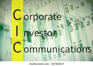 Business Acronym CIC as corporate investor communications