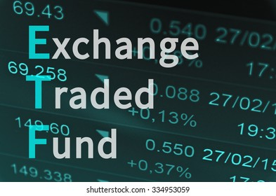 Business acronym ETF as Exchange-traded fund.