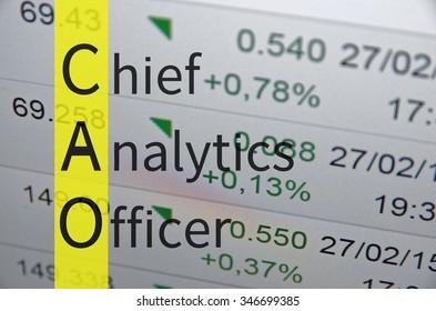 Business acronym term CAO - Chief analytics officer