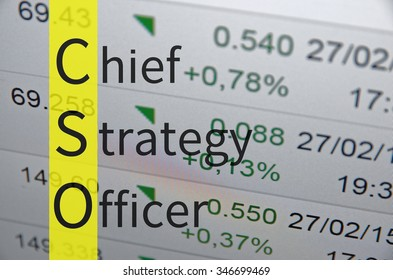 Business acronym term CSO - Chief strategy officer