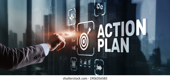 Business Action Plan strategy concept on virtual screen. Time management. - Shutterstock ID 1906356583