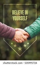 Business agreement partnership. Believe In Yourself, Business Concept