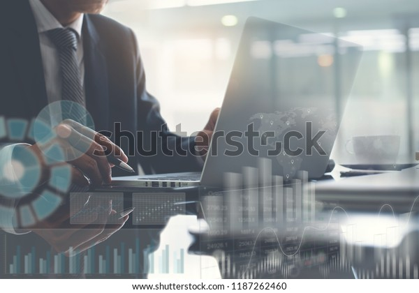 Business Analysis Ba Concept Businessman Project Stock Photo