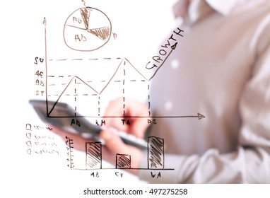 business analysis graph and chart