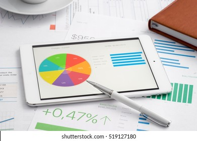 Business analytic with tablet computer