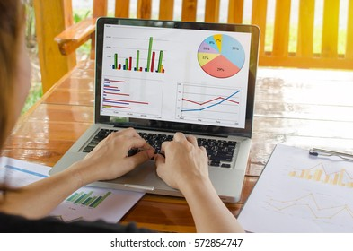 Business analyzing report, business performance concept