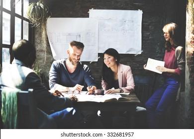 Business Architecture Interior Designer Meeting Concept