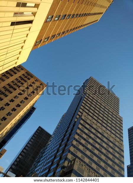 Business Architecture Skyscraper Industrial Architecture Stock ...