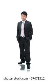 Business Asian Man Standing