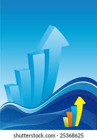 Business background - Bar chart with waves - find eps (vector) version in my portfolio