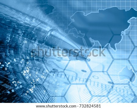 business background blues map digits pen stock photo edit now