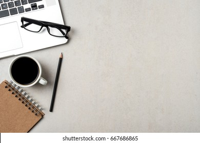 Business background with laptop and accessories