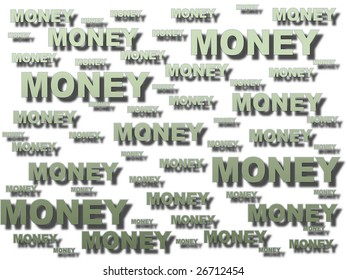 business background made of money word