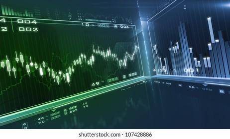 Business background. Market Analyze.Bar graphs, diagrams, financial figures. Forex.