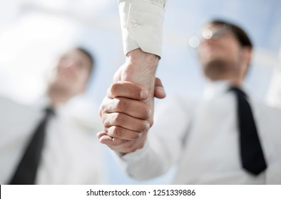 business background.business handshake on the background of the