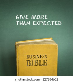 Business Bible commandment - Give more than expected