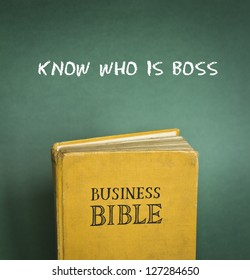 Business Bible commandment - Know who is boss