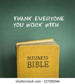 Business Bible commandment - Thank everyone you work with