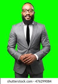 business black man smiling