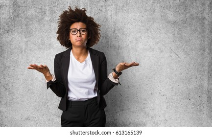 business black woman doubting