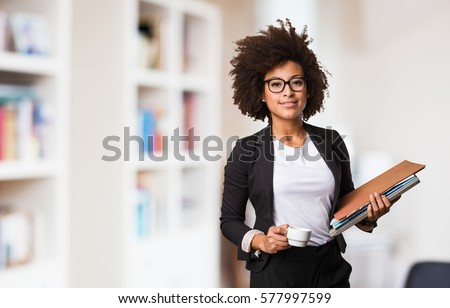business black woman holding