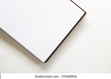 Business book with stamp on the white background