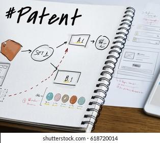 Business branding label chart graphic